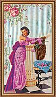 """РАСПРОДАЖА! Набор для вышивки бисером на натуральном художественном холсте """"Дебют"""""""