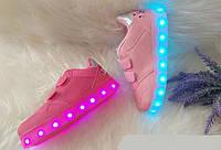 Светящиеся детские кроссовки Led с USB зарядкой Размеры 22-28, фото 1