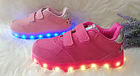 Светящиеся детские кроссовки Led с USB зарядкой Размеры 29-35, фото 1
