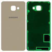 Задняя крышка Samsung A710F Galaxy A7 (2016), золотистая, оригинал (Китай)
