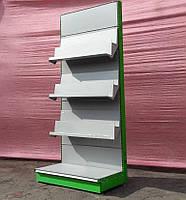 """Торговый стеллаж книжный """"Колумб"""" 210х1000 см, бу"""