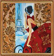 """Набор для вышивки бисером на натуральном художественном холсте """"Окно в Париж"""""""