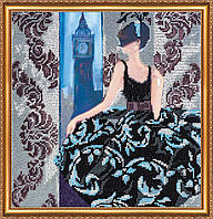 """Набор для вышивки бисером на натуральном художественном холсте """"Окно в Лондон"""""""
