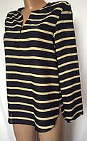 Женская блуза ZARA женская из полосатого шифона размер S