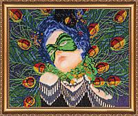 """Набор для вышивки бисером на натуральном художественном холсте """"Синяя птица"""""""