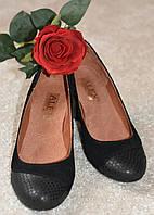Туфли кожаные классические с замшевыми вставками