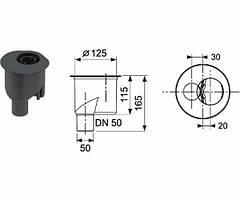 Сифон DN 50, 1.4 л/с
