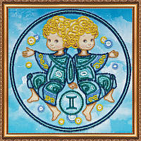"""Набор для вышивки бисером на натуральном художественном холсте """"Знак Зодиака """"Близнецы"""""""