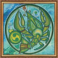 """Набор для вышивки бисером на натуральном художественном холсте """"Знак Зодиака """"Рак"""""""