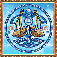 """Набор для вышивки бисером на натуральном художественном холсте """"Знак Зодиака """"Весы"""""""