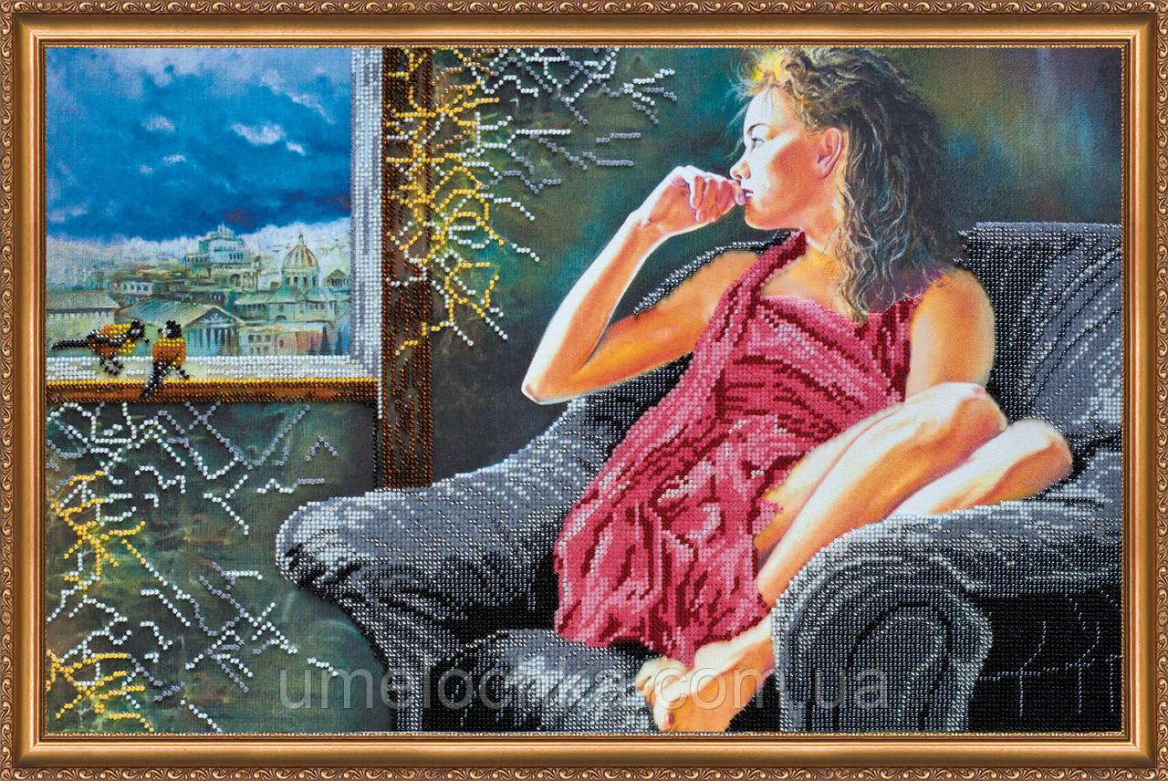 Набор для вышивки бисером на натуральном художественном холсте «Воспоминания»