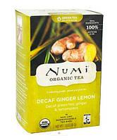"""NUMI Зеленый чай """" Лимонный имбирь """" ( без кофеина ) / Decaf Ginger Lemon, 16 пакетиков"""