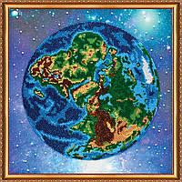 """Набор для вышивки бисером на натуральном художественном холсте """"Планета Земля"""""""