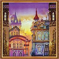 """Набор для вышивки бисером на натуральном художественном холсте """"Старый город"""""""