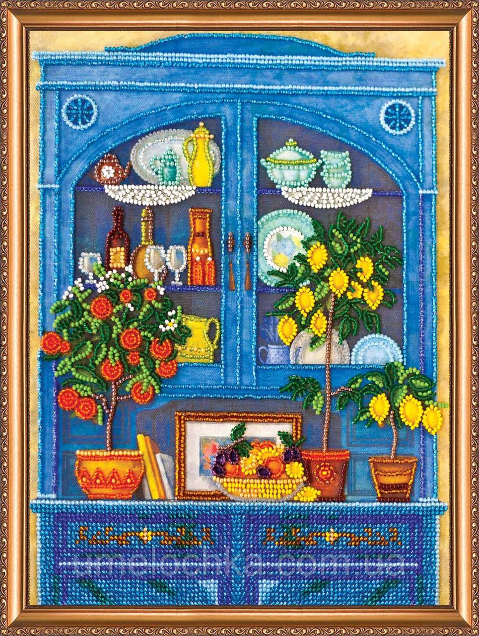"""Набор для вышивки бисером на натуральном художественном холсте """"Кухонный буфет"""""""