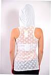 Туника белая кружевная американка с капюшоном , бл 492400, фото 3