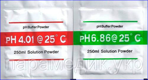 Набор калибровочных растворов для PH метров, PH = 4,00 и 6,86 (250 мл), фото 1