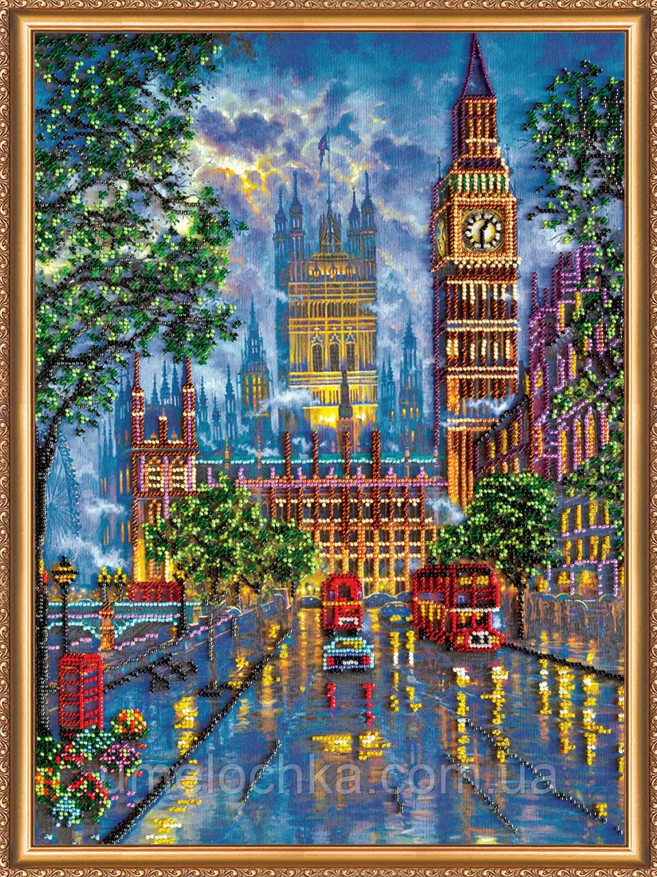 """Набор для вышивки бисером на натуральном художественном холсте  """"Огни большого города"""""""