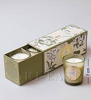 Набор из 3 свечей аром. Дикая орхидея в под. кор. WD-05/2