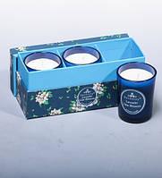 Набор из 3 свечей аром. Лаванда и сирень в под. кор. WD-17/1