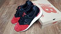 Мужские+подростковые кроссовки New Balance 999 замша черные с красным