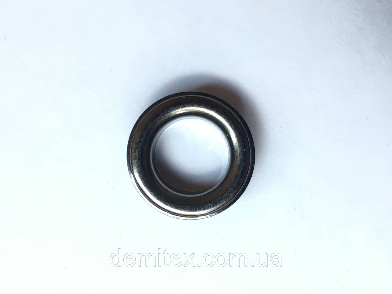 Люверс з шайбою чорний нікель 14 мм