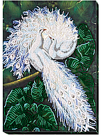 """Набор для вышивки бисером на натуральном художественном холсте """"Белоснежный символ счастья"""""""