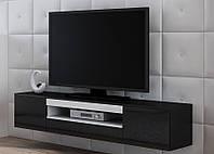 VIVA Тумба для телевизора с мдф глянцевая  черный/белый глянец CAMA