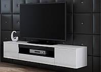 VIVA Тумба для телевизора с мдф глянцевая  белый/черный глянец CAMA