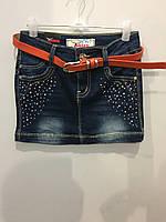 Подростковая джинсовая юбка 158 см