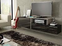 SIGMA 3 Тумба для телевизора с мдф глянцевая  черный/сонома CAMA