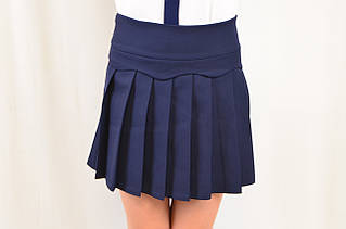 Школьная нарядная юбка в складку, размеры 122,128,134,140