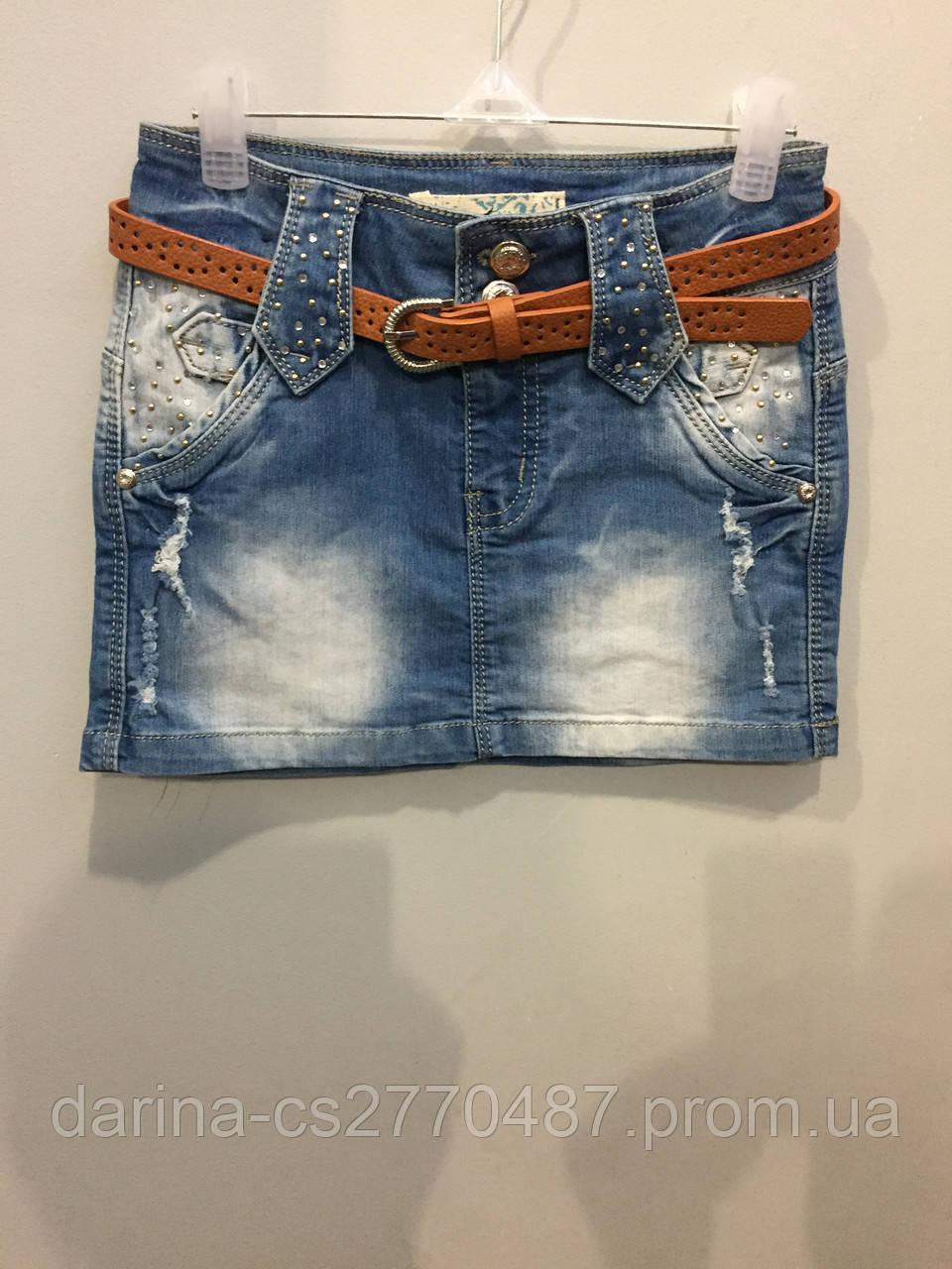 Модная джинсовая юбка для подростка 152,164 см