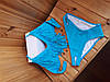 Купальник с бахромой ярко-голубой, фото 4