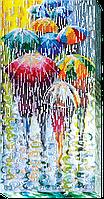 """Набор для вышивки бисером на натуральном художественном холсте """"Веселые зонтики"""""""