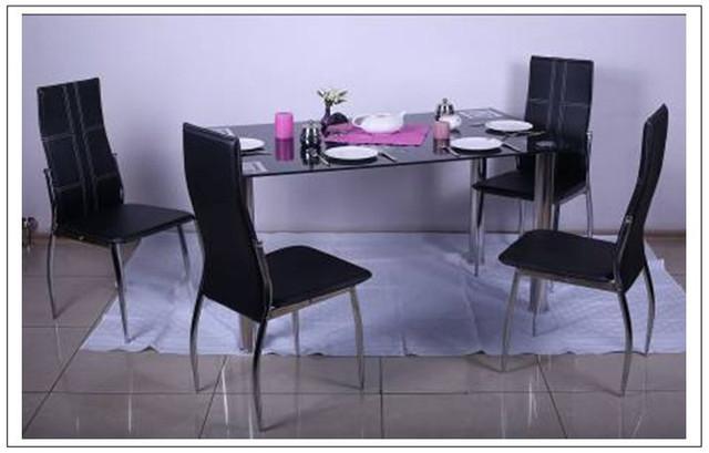 Стол Дакар ROT-44 столешница - закаленное стекло в интерьере.