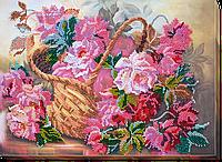 """Набор для вышивки бисером на натуральном художественном холсте """"Розовая нежность"""""""