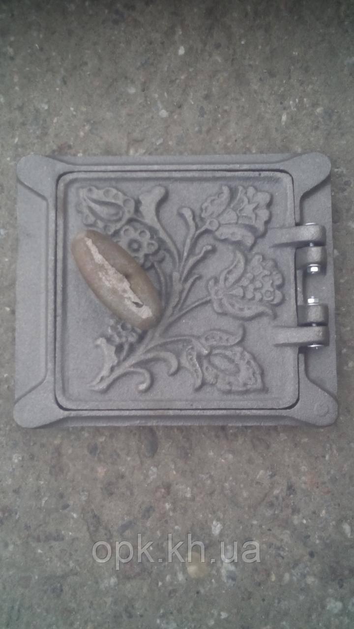 Сажетруска  дверца чугунная 150*150 мм