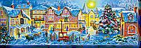 """Набор для вышивки бисером на натуральном художественном холсте """"Рождественские гуляния"""""""