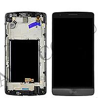 Дисплей (LCD) LG D724/  D722/  D725/  D728 G3 mini с сенсором серый оригинал + рамка