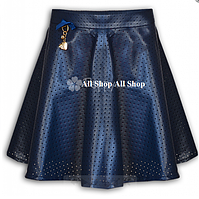 Детская школьная юбка Mone для девочки,синий,р.134