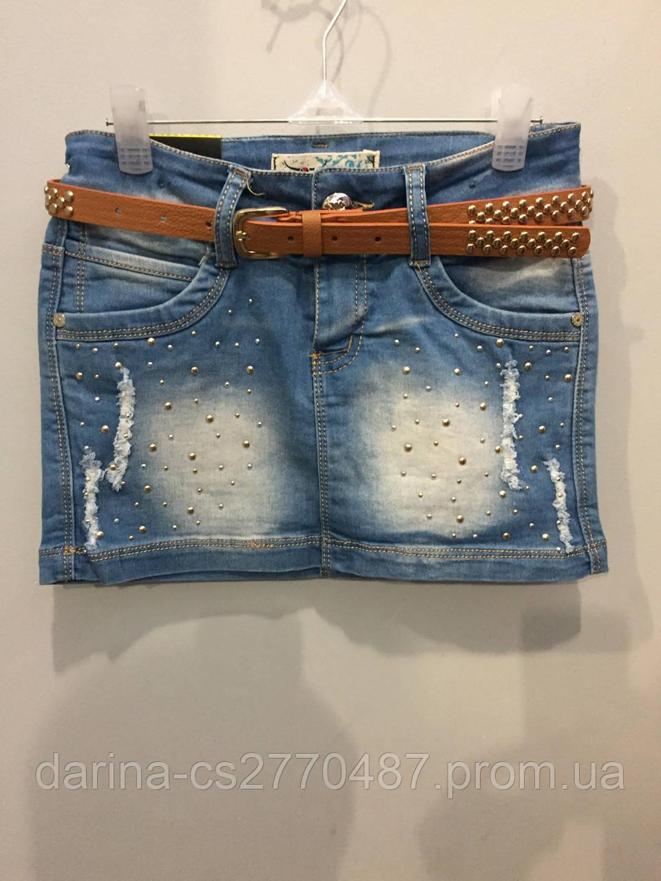 Джинсовая юбка для подростка 164 см