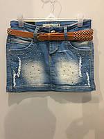 Джинсовая юбка для подростка 164 см, фото 1