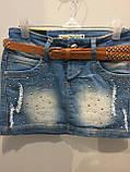 Джинсовая юбка для подростка 164 см, фото 2