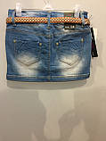 Джинсовая юбка для подростка 164 см, фото 3