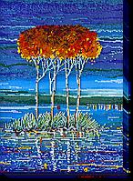 """Набор для вышивки бисером на натуральном художественном холсте """"Огненная лазурь-2"""""""