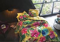 Постельное белье TAC Bamboo Digital 200х220 - Lemon sari евро