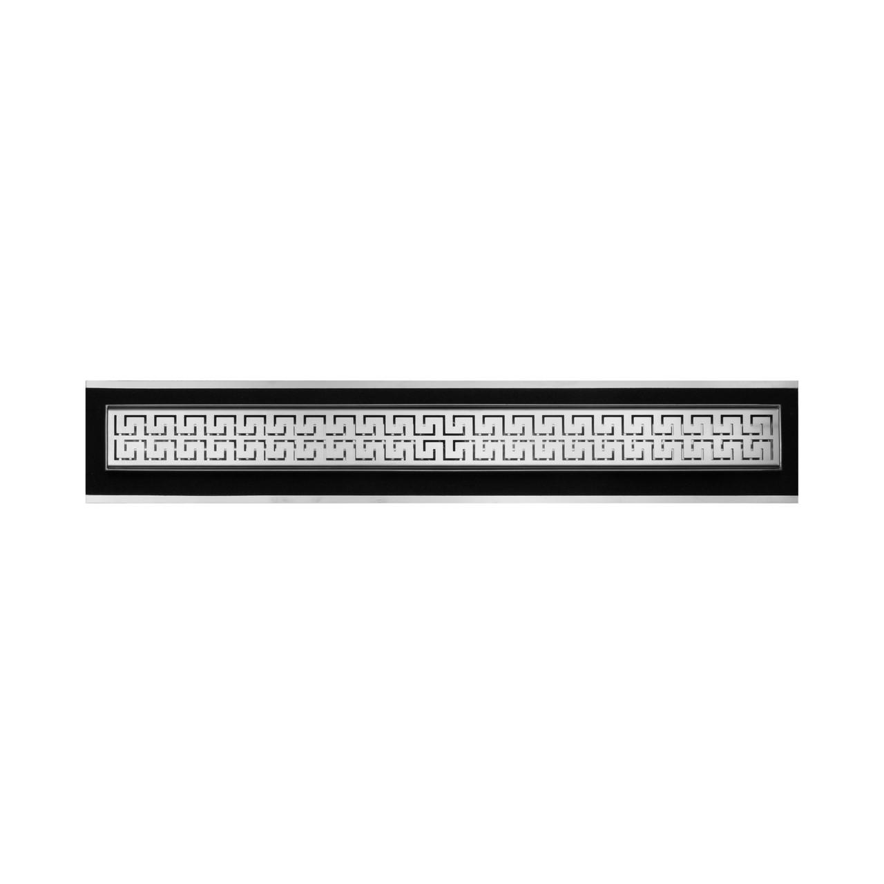 """Душевые каналы Supra-line Classic из нержавеющей стали 885мм с горизонтальным фланцем с решеткой """"Венеция 2"""" L88504"""