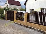 Штакетный металлический забор, фото 2