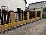 Штакетный металлический забор, фото 3